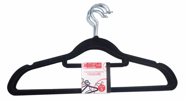 Mesa Living fluwelen kledinghanger 8-DLG Set