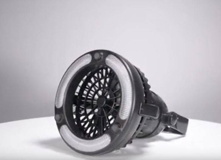 Mesa Living LED lamp met fan